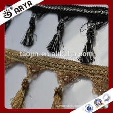 Home Decoration wholesale lampshade stock tassel fringe for curtain